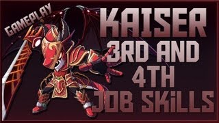 MapleStory GMS Kaiser ► 3rd and 4th Job Skills [w/ Commentary]